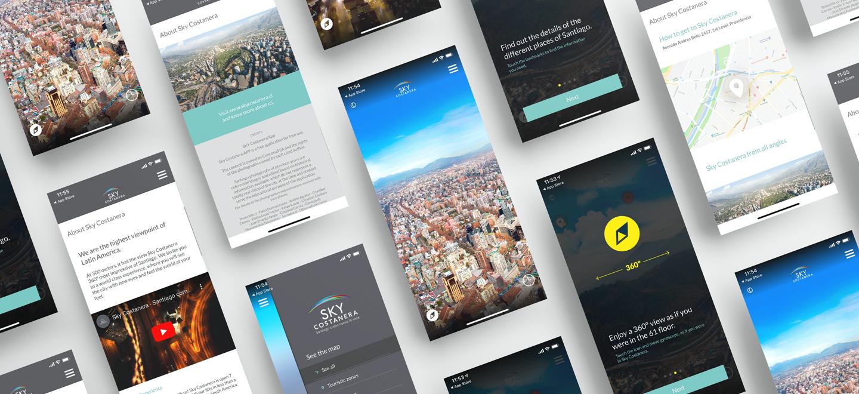 vista aplicación Sky Costanera
