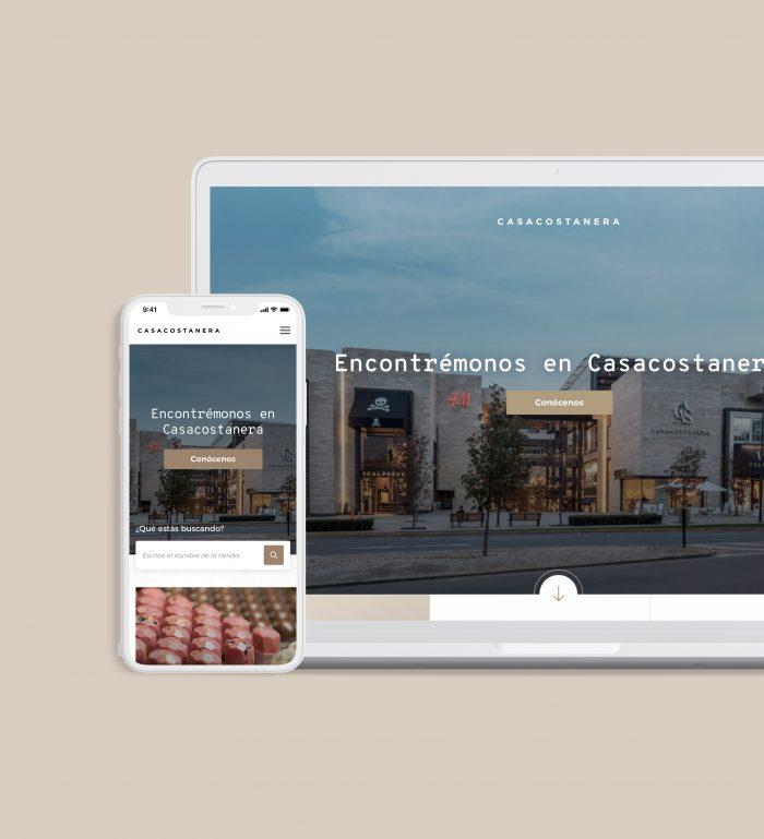 notebook y smartphone con sitio Casa Costanera