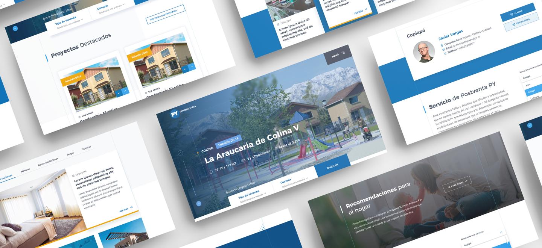 vista de navegador del sitio PY inmobiliaria