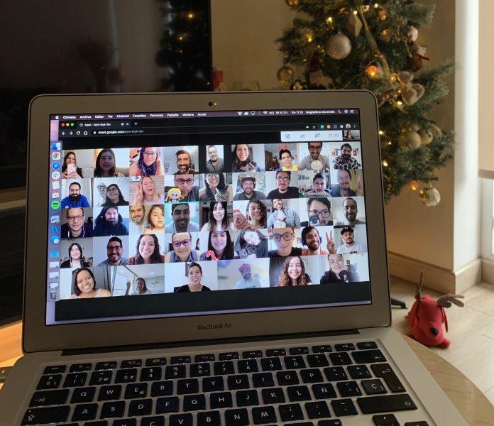 fotografía videollamada navidad 2020