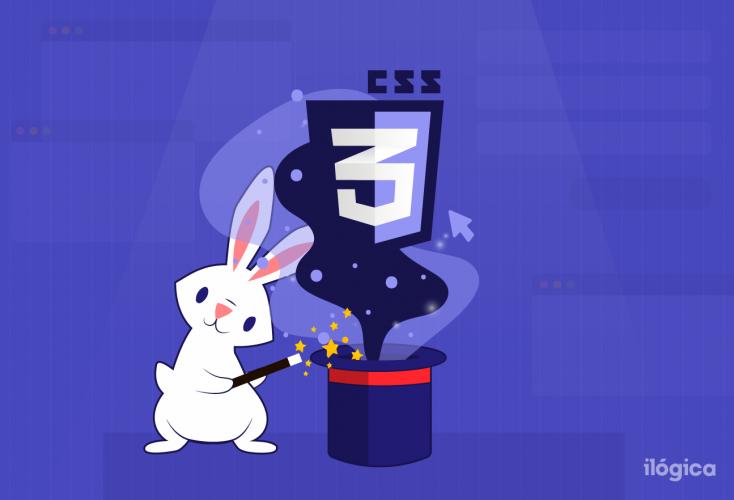 ilustración de conejo haciendo magia del CSS